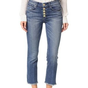 McGuire Denim Gainsbourg Button Fly Crop Jeans